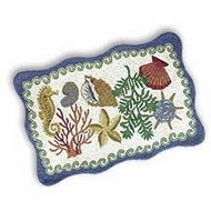 Shell Hooked Rug Beachcomber