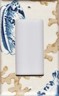 Single Decora Switchplate Hampton Blue