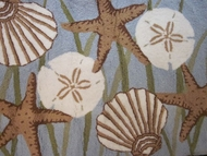 Starfish and Sand Dollar Rug