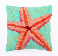 Starfish and Seaweed Hook Pillow