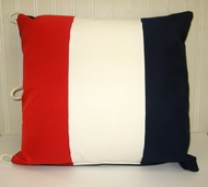 Sunbrella Nautical Pillow Tango Letter T