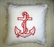 Sunbrella Nautical Red Anchor