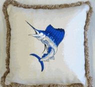 Sunbrella Outdoor Pillow Blue Sailfish