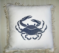 Sunbrella Pillow Blue crab