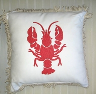 Sunbrella Pillow Red Lobster