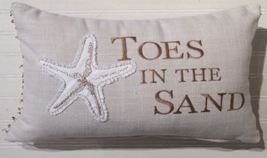 Toes In The Sand Oblong Pillow