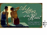 Vintage Beach Sign Affair of The Heart