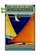 Vintage Style Wood Sailing Picture