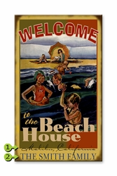 Welcome to the Beach House Custom Sign