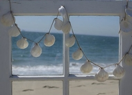 White Scallop Shell Garland sold out