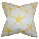 Yellow Starfish Pillow
