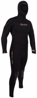 8/7mm Mens Henderson THERMOPRENE Semi-Dry Hooded Wetsuit Chest Entry
