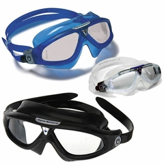 Aqua Sphere Seal XP Goggles Swimming SALE! Blue Black Clear