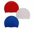 Aqua Sphere Silicon Swim Cap Blue, Black, Red, White