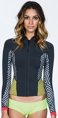 Billabong 202 Peeky Jacket Neoprene Jacket - Multi Color