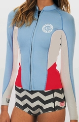 Billabong 202 Peeky Jacket Neoprene Jacket - Sea Foam