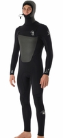Billabong 504 Foil Men's Chest Zip 5/4mm GBS Hooded Full Wetsuit
