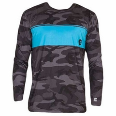 Billabong Adrift Long Sleeve Rashguard - Camo/Blue