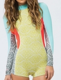 Billabong Capsule Wetsuit Spring Fever Springsuit 2mm Women's - Moss