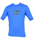 Billabong Chronicle Rashguard Loose Fit  Short Sleeve 50+ UV Protection  - Royal Blue