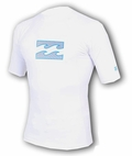 Billabong Chronicle Rashguard Loose Fit  Short Sleeve 50+ UV Protection - White