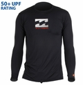 Billabong Chronicle Loose Rashguard Fit Long Sleeve 50+ UPF - Black