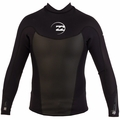 Billabong Foil Jacket 2mm Men's Long Sleeve Neoprene - Black