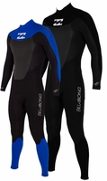 Billabong Foil 302 Mens 3/2mm Wetsuit Flatlock Stitched - NEW!
