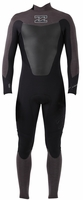 Billabong Foil 403 Men's Back Zip 4/3mm GBS Full Wetsuit - Black/Grey