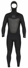 Billabong Foil 504 Men's Chest Zip 5/4mm GBS Hooded Full Wetsuit