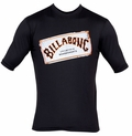 Billabong Iconic Rashguard Loose Fit Short Sleeve 50+ UV Protection - Black