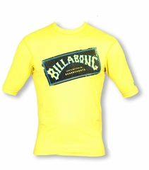 Billabong Iconic Loose Fit SS Rashguard - Yellow