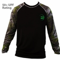 Billabong Iconic Rashguard CAMO Camouflage Raglan Loose Fit Long Sleeve