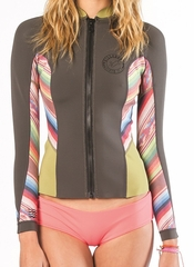 Billabong Peeky jacket 2mm Front Zip Neoprene - Multi Color