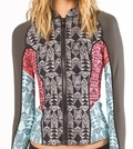 Billabong Peeky Jacket 2mm Front Zip Neoprene - Sea Foam