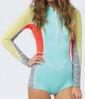 Billabong Salty Dayz Wetsuit Women's Long Sleeve Front Zip Springsuit-Sea Foam