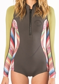 Billabong Salty Dayz Wetsuit Women's Long Sleeve Front Zip Springsuit - Multi