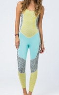 Billabong Salty Jane Wetsuit 2mm Women's Sleeveless-Sea Foam