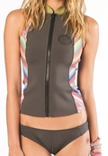 Billabong Sneeky Vest Front Zip Neoprene - Multi Color