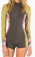 Billabong Capsule Wetsuit Spring Fever 2mm Women's Springsuit - Multi Color