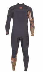 Billabong Xero Revolution 403 Men's Chest Zip 4/3mm Full Wetsuit - Camo