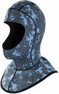 Body Glove EX3 Camo 6/3mm Diving Hood - NEW Blue Camo!