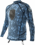 Body Glove Super Rover Free Dive 1mm Shirt Spearfishing -  NEW Blue Camo!