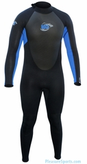 H2Odyssey Vapor  Men's Wetsuit 3/2mm Flatlock - Black/Blue