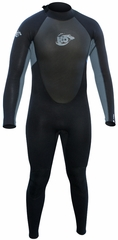 H2Odyssey Men's 4/3mm Momentum Wetsuit GBS - Black/Grey