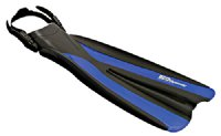 H2Odyssey Thruster Open Heel Fin - Black/Blue