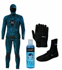 Henderson Free Dive 3mm Camoflauge 2 Piece Men's Wetsuit Combo