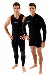 NeoSport Men's 3mm Farmer John Wetsuit Combo