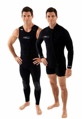 NeoSport  Men's 7mm Farmer John Wetsuit Combo
