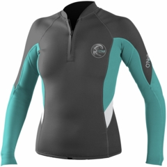 O'Neill Bahia 1mm Women's Front Zip Neoprene Jacket Dark Grey